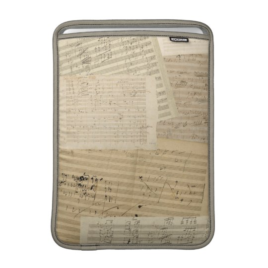 Beethoven Manuscript Medley MacBook Sleeve