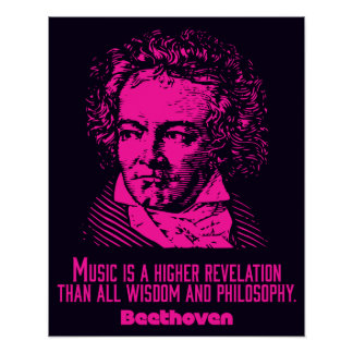 Beethoven 'Music is...' quote poster