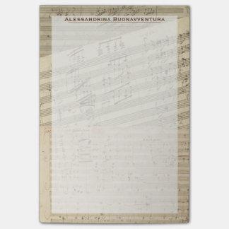 Beethoven Music Manuscript Medley Custom Name Post-it Notes