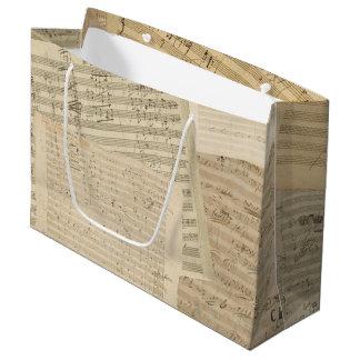 Beethoven Music Manuscript Medley Large Gift Bag