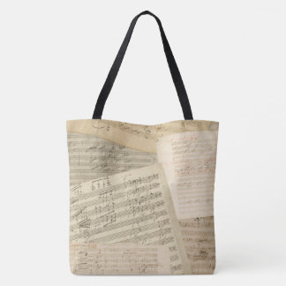 Beethoven Music Manuscripts Collage Tote Bag