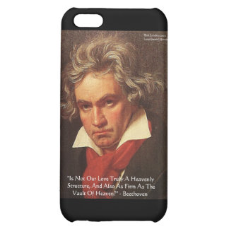 """Beethoven """"Of Heaven"""" Love Quote Gifts &  Cover For iPhone 5C"""