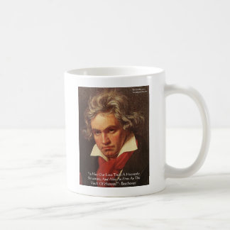 "Beethoven ""Of Heaven"" Love Quote Gifts & Tees Coffee Mug"