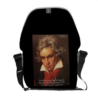 "Beethoven ""Of Heaven"" Love Quote Messenger Bag"