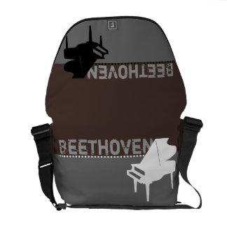 Beethoven Piano Brown Messenger Bag