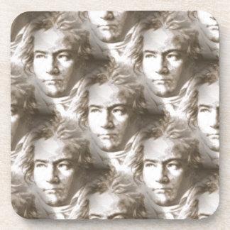 Beethoven Portrait Pattern Drink Coaster