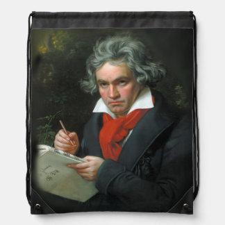 Beethoven Portrait Vintage Drawstring Backpack