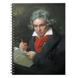 Beethoven Portrait Vintage Spiral Notebooks