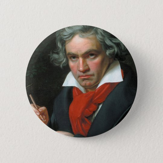Beethoven Product Fine Art Classical Collection 6 Cm Round Badge
