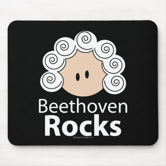 Beethoven Rocks Mouse Pad