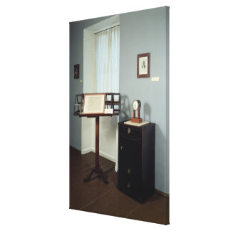 Beethoven Room displaying a music stand Canvas Print