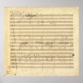 Beethoven Symphony No 9 Original Manuscript Print