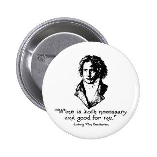 Beethoven - Wine 6 Cm Round Badge