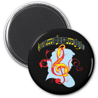 Beethoven's Fifth 6 Cm Round Magnet