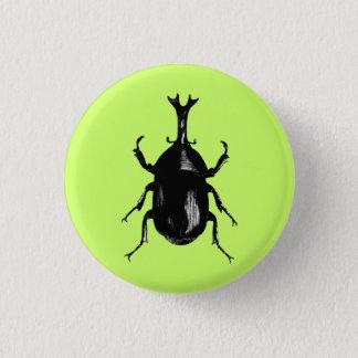 Beetle Beetles Insect Bug Vintage Wood Engraving 3 Cm Round Badge