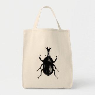 Beetle Beetles Insect Bug Vintage Wood Engraving Grocery Tote Bag