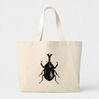 Beetle Beetles Insect Bug Vintage Wood Engraving Jumbo Tote Bag