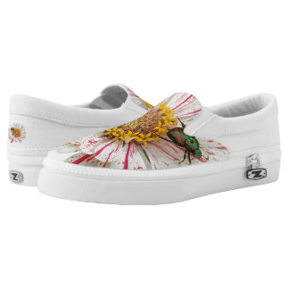 Beetle Flower Slip-On Shoes