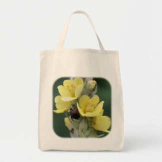 Beetle On Mullein Flower Nature Tote Bag