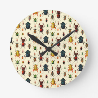 Beetle Varieties Round Clock