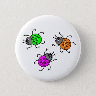 beetles 6 cm round badge
