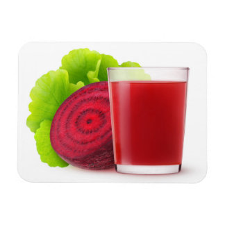 Beetroot juice rectangular photo magnet