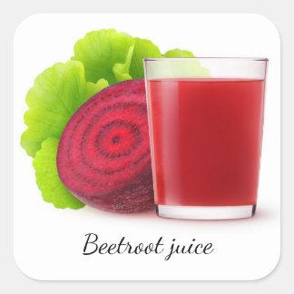 Beetroot juice square sticker