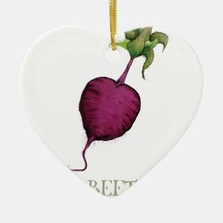 beetroot, tony fernandes ceramic heart decoration