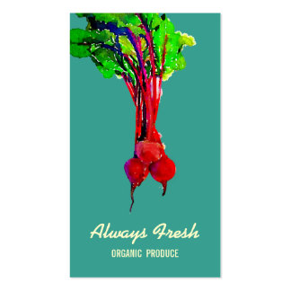Beets Vegetable Healthy Chef Business Card Templates