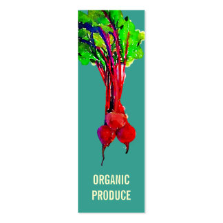 Beets Vegetable Pack Of Skinny Business Cards