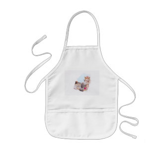 Before and after kids apron