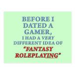 Before I Dated a Gamer Postcard