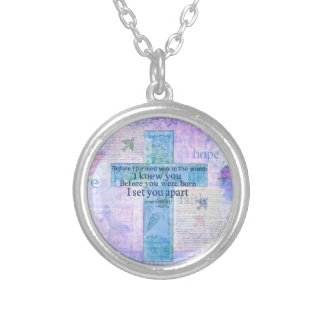 Before I formed you in the womb Jeremiah 1:5 Bible Pendants