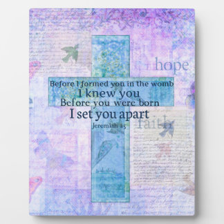 Before I formed you in the womb Jeremiah 1:5 Bible Plaque