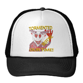 """""""Before Our Time"""" White Demon Trucker Hats"""