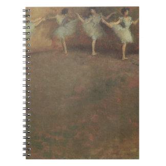 Before the Ballet by Edgar Degas, Vintage Fine Art Spiral Notebook