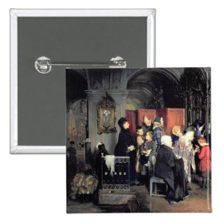 Before the Confession, 1877 15 Cm Square Badge