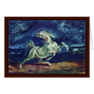 Before The Lightning Frightened Horse Greeting Card
