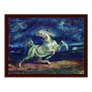 Before The Lightning Frightened Horse Postcard