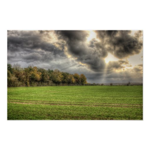 Before the Rain Countryside Poster Print
