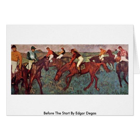 Before The Start By Edgar Degas Card