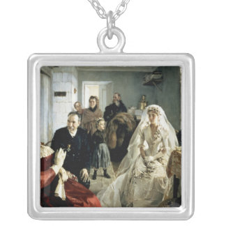 Before the Wedding, 1880s Silver Plated Necklace