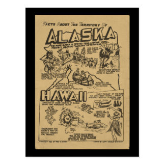 Before They Were States Alaska and Hawaii Postcard
