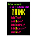 Before You Speak Think Posters