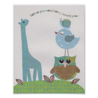 Before you were born, I loved you Nursery wall art