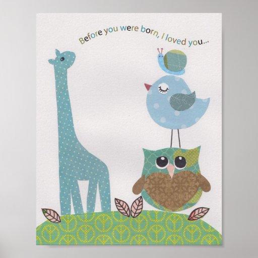 Before you were born, I loved you Nursery wall art Print