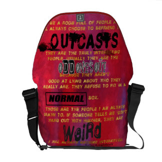 Befriend the Outcasts Quote Messenger Bag