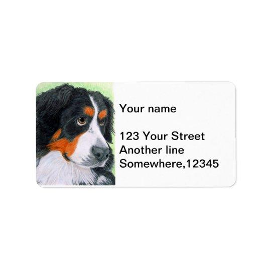 Begging Bernese Address Label