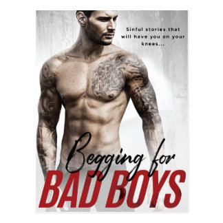 Begging for Bad Boys Postcards