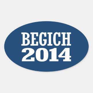 BEGICH 2014 OVAL STICKER